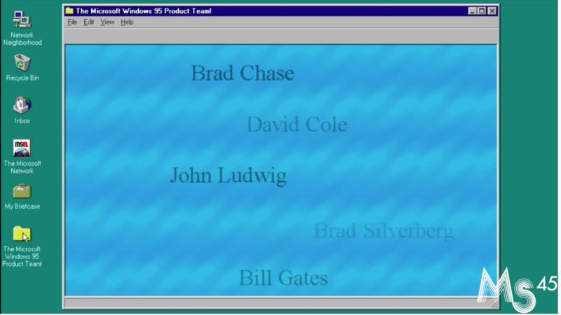Créditos secretos no Windows 95. Imagem: Living Computers: Museum + Labs