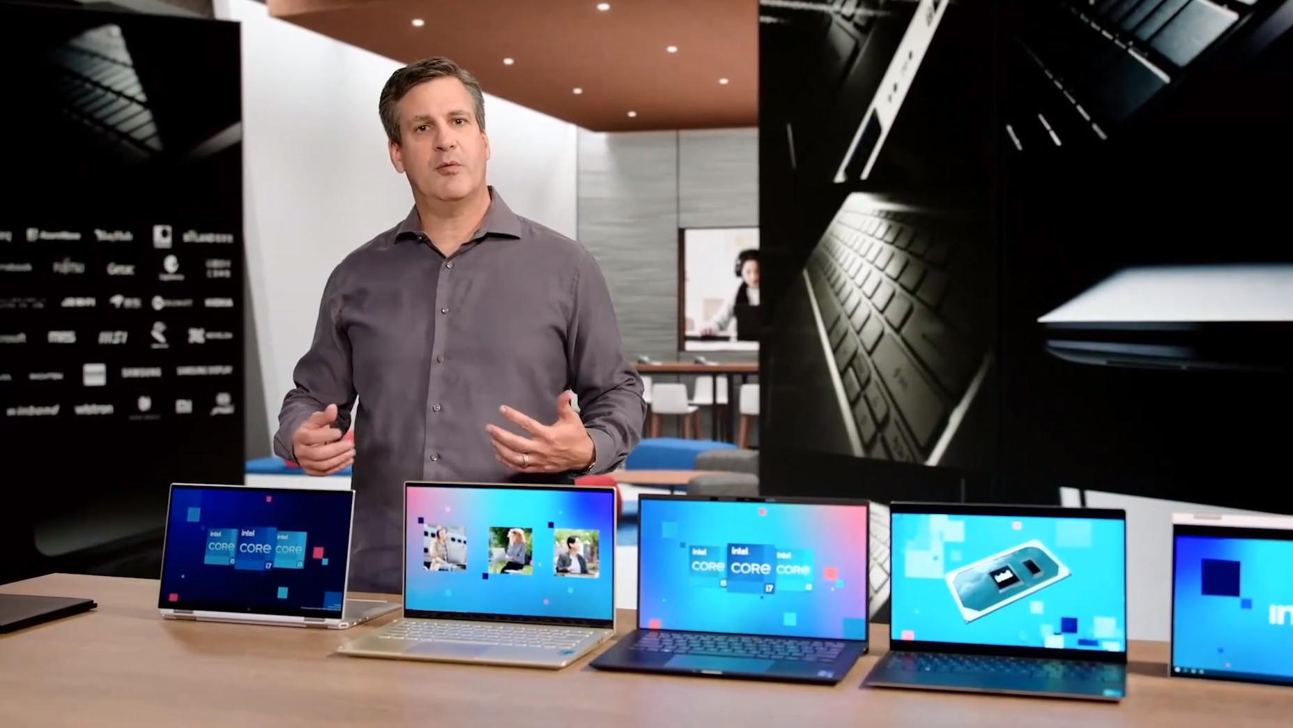 Novas CPUs móveis da Intel de 11ª geração estarão em laptops mais leves e com boa duração de bateria com placa integrada Intel Xe. Crédito: Intel