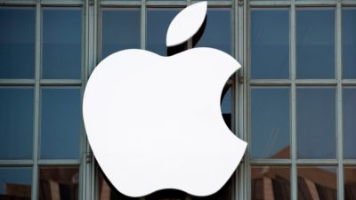 Logotipo da Apple. Crédito: Josh Edelson/AFP (Getty Images)