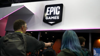 Logotipo da Epic Games. Crédito: Justin Sullivan/Getty Images