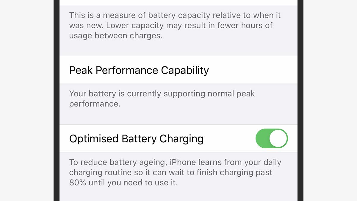Otimizar carregamento do iPhone no iOS