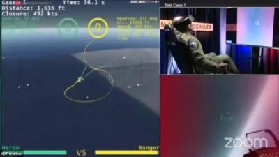 Inteligência artificial supera piloto humano em testes de voo. Crédito: DARPAtv/YouTube