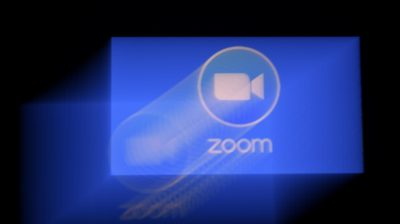 Logotipo do Zoom. Crédito: Olivier Douliery/AFP (Getty Images)