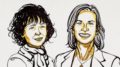 Nobel de Química 2020 premia duas mulheres por método CRISPR de edição genética. Imagem: Niklas Elmehed (Nobel Media)