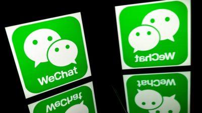 Aplicativo WeChat. Imagem: Lionel Bonaventure (Getty Images)