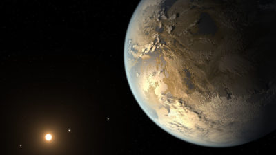 Concepção artística mostra exoplaneta habitável. Crédito: NASA Ames/SETI Institute/JPL-Caltech