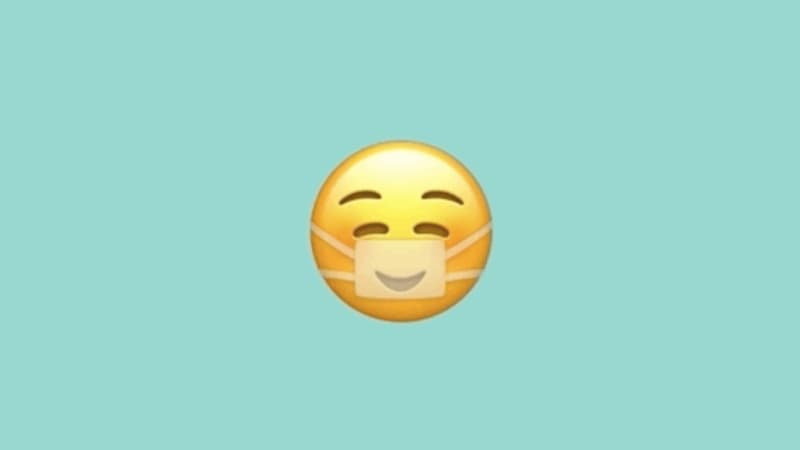 Emoji de máscara facial do iOS 14.2 beta
