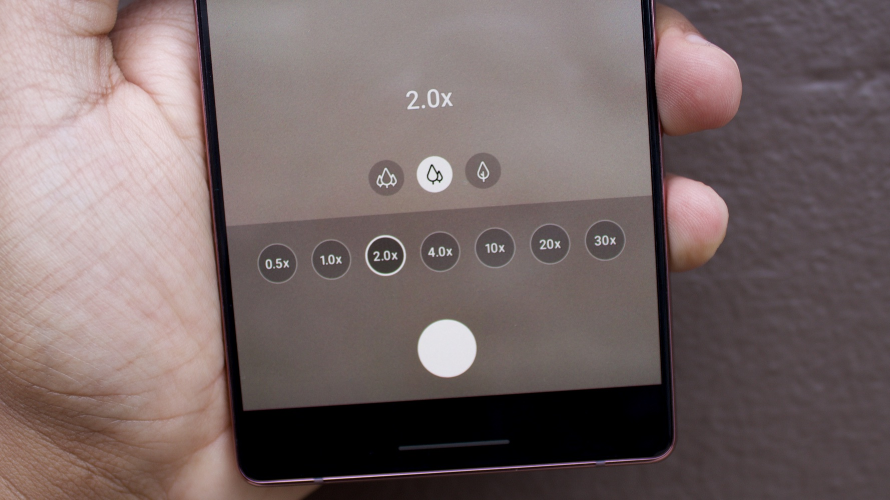 Interface de zoom do Galaxy Note 20 Ultra