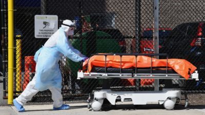Pandemia de coronavírus. Imagem: Angela Weiss (Getty Images)