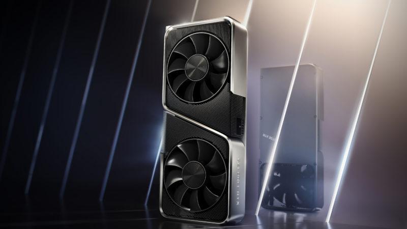 Design da placa RTX 30, da Nvidia. Crédito: Nvidia