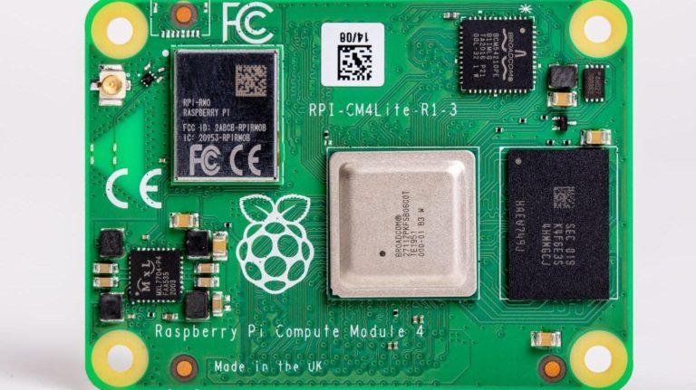O Raspberry Pi 4 Compute Module é um mini processador capaz de alimentar robôs e drones