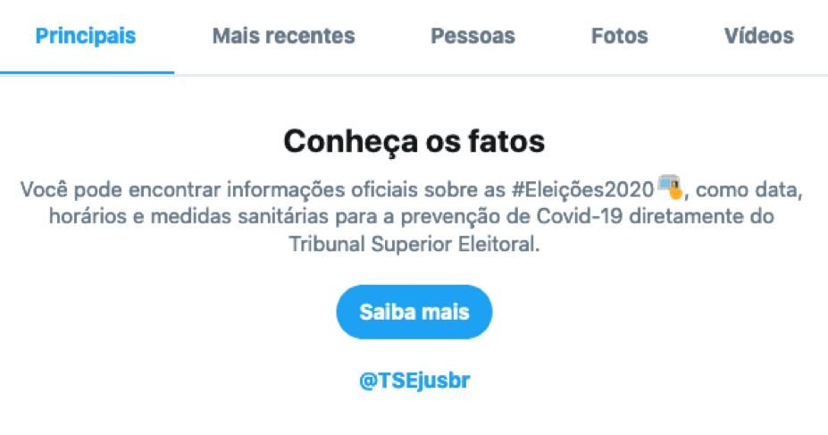 Twitter e TSE parceria