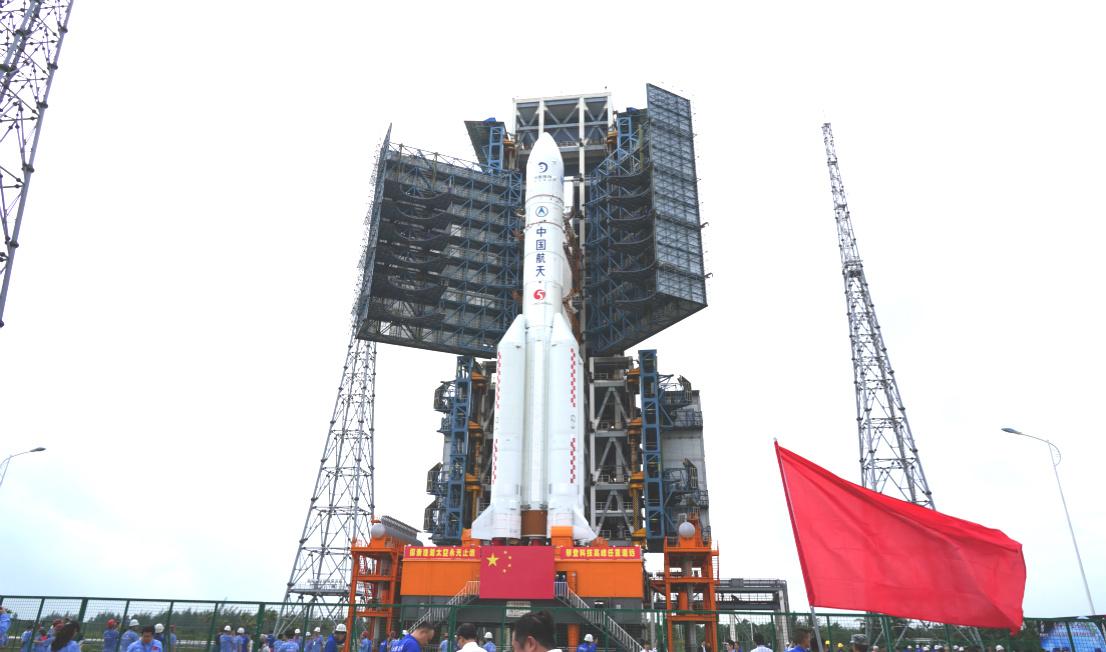 Sonda Chang'e 5. Imagem: CNSA