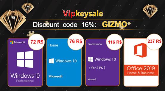 Vipkeysale ofertas de Black Friday: compre chave de Windows 10 Pro por R$72