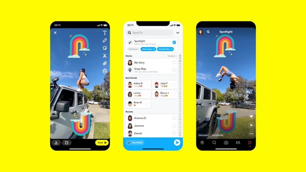 Spotlight é a aposta do Snapchat contra o TikTok e Instagram Reels