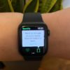 Spotify no Apple Watch. Imagem: Catie Keck (Gizmodo)