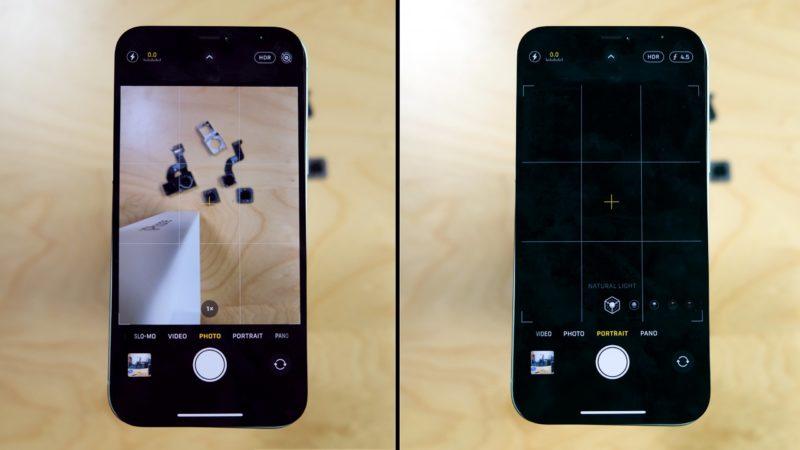 Problema nas câmeras do iPhone 12. Imagem: iFixit