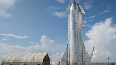 Nave da SpaceX, Starship SN8. Imagem: Loren Elliott / Stringer (Getty Images)