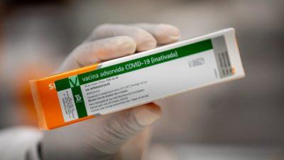 Vacina CoronaVac. Imagem: Divulgação/Instituto Butantan
