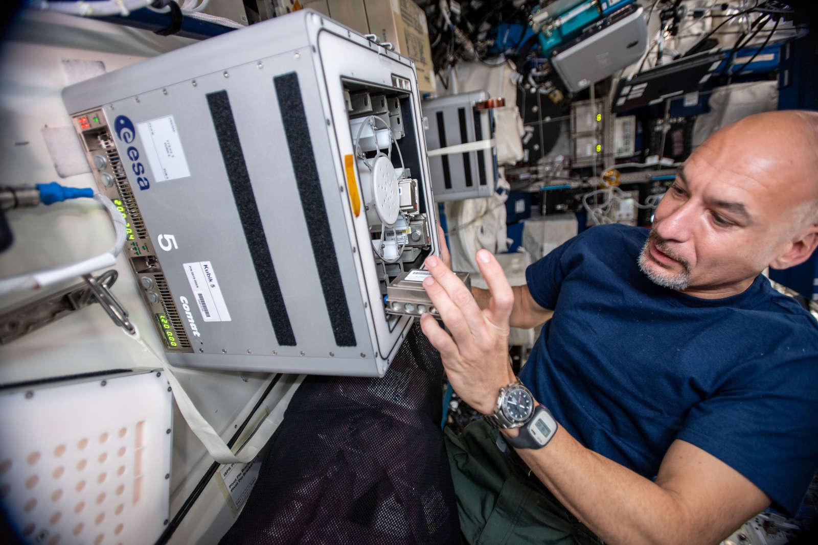 Astronauta Luca Parmitano. Imagem: ESA