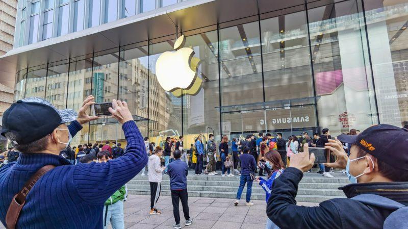 Apple loja. Imagem: STR/AFP (Getty Images)