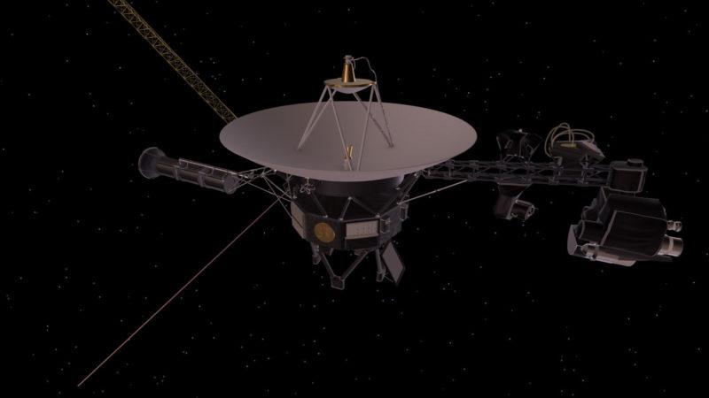 Concepção artística de uma das sondas Voyager da NASA. Imagem: NASA/JPL-Caltech