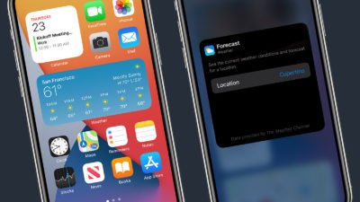 Widgets iOS 14. Imagem: Apple