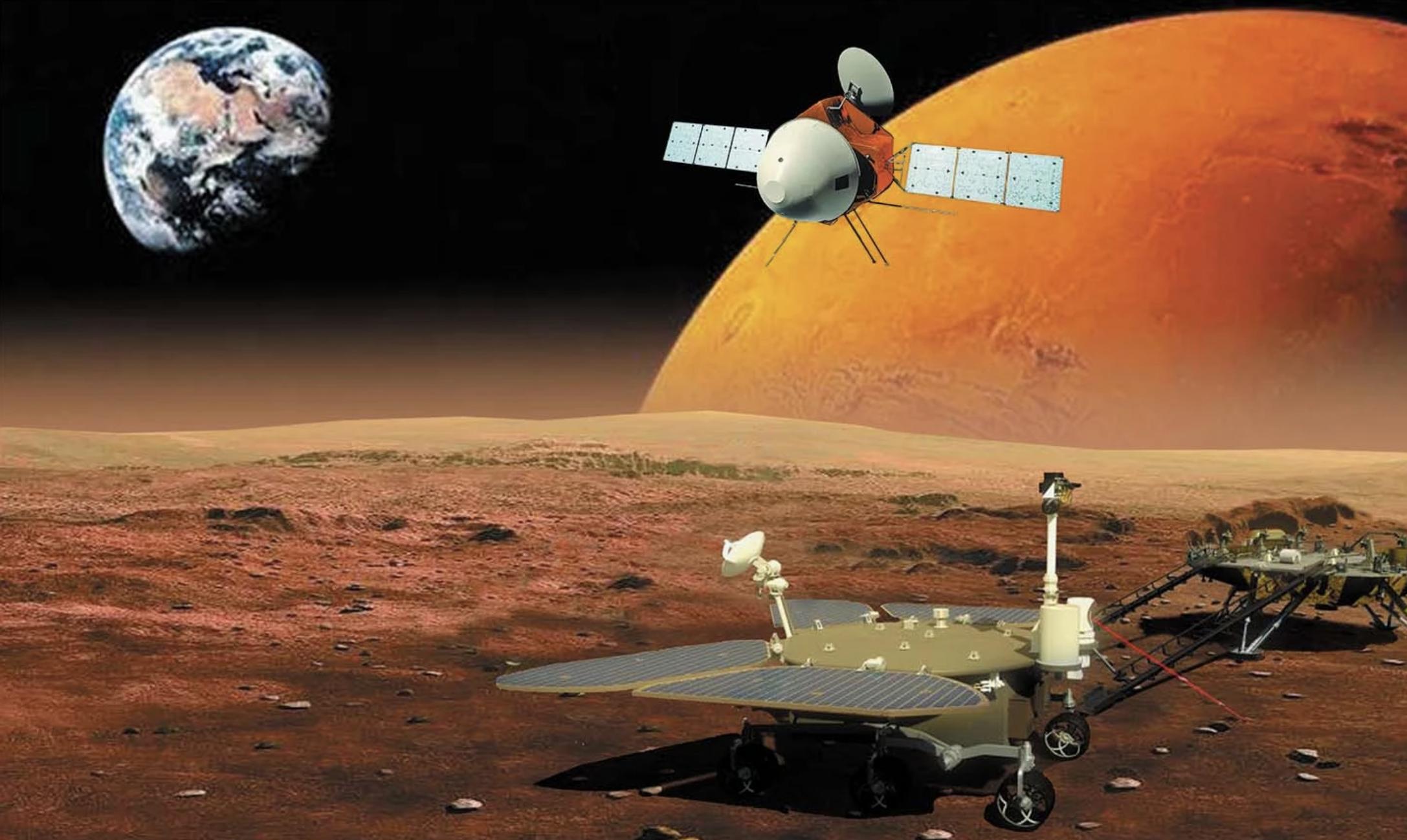 Ilustração da Tianwen-1 Fonte: CNSA