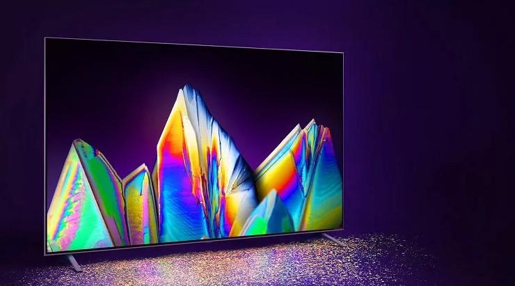 Primeira linha de TVs QNED Mini LED apresentada pela LG durante a CES 2021. (Divulgação)