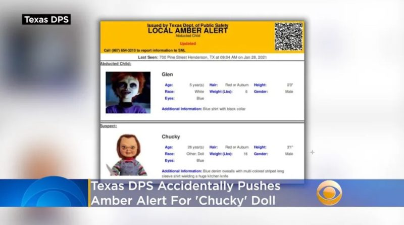 Captura de tela: Texas Department of Public Safety/CBS Dallas-Fort Worth