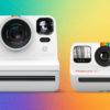 A Polaroid Now (à esquerda) ao lado da Polaroid Go (à direita). Imagem: Polaroid/Divulgação