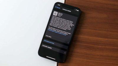 iPhone com atualização da Apple