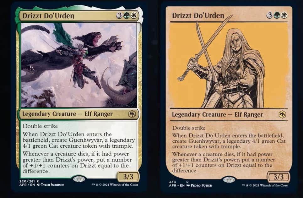 cartas drizzt magic