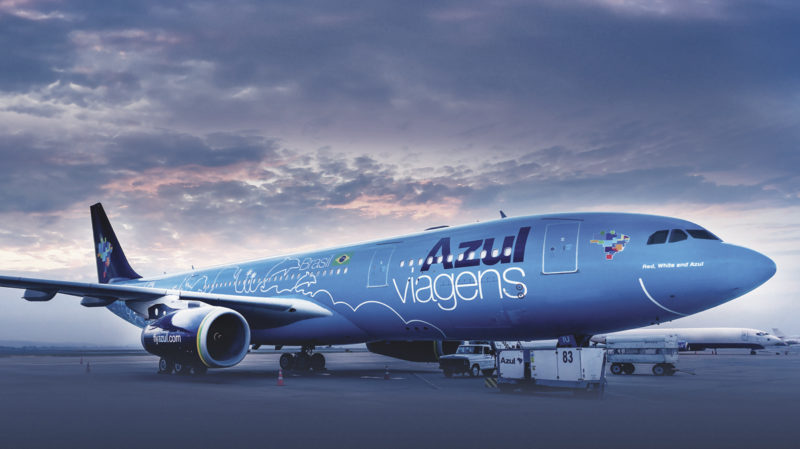 azul avião