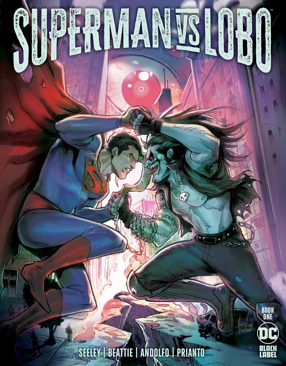 Capa superman vs lobo dc comics