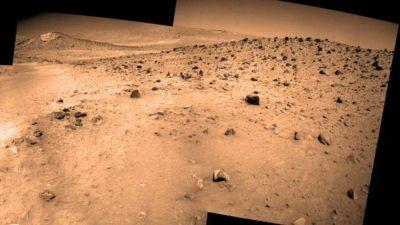 Panorama final do Spirit rover de Marte.