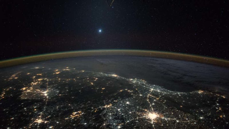 foto da terra por satélite