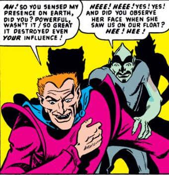 Primeira aparição de Loki nos quadrinhos de 1949 da Vênus.