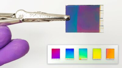 Papel eletrônico colorido